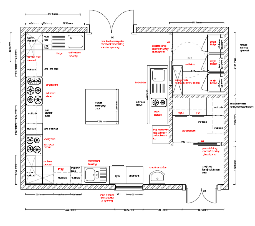 Accessible Kitchen Plan